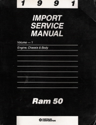 1991 Dodge Ram 50 Factory Service Manual - Engine, Chassis & Body