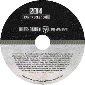 2014 Dodge Ram Truck 1500 Factory Service Manual - CD-ROM