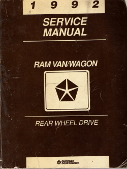 1992 Chrysler Dodge Van / Wagon (RWD) Service Manual