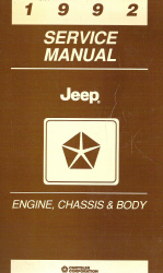 1992 Jeep Engine, Chassis & Body Service Manual