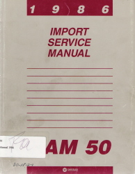1986 Dodge Ram 50 Factory Service Manual