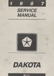 1987 Dodge Dakota Service Manual