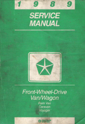 1989 Dodge and Plymouth Ram Van, Caravan, Voyager Factory Service Manual