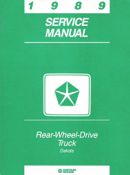 1989 Dodge Dakota Service Manual