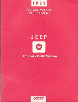 1989 Jeep Service Manual Supplement Anti - Lock Brake Systems