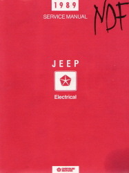 1989 Jeep Factory Electrical Service Manual