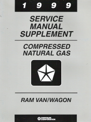 1999 Dodge Ram Van / Wagon Compressed Natural Gas Service Manual Supplement