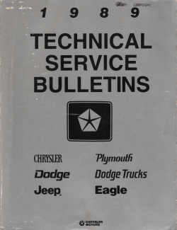 1989 Chrysler Technical Bulletins Manual