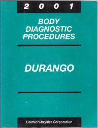 2001 Dodge Durango Factory Body Diagnostic Procedures Manual