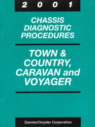 2001 Chrysler Town & County & Dodge Caravan Factory Chassis Diagnostic Procedures Manual