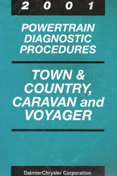 2001 Chrysler, Dodge and Plymouth Town & Country, Caravan and Voyager Powertrain Diagnostic Procedures
