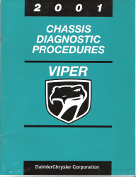 2001 Dodge Viper Chassis Diagnostic Procedures