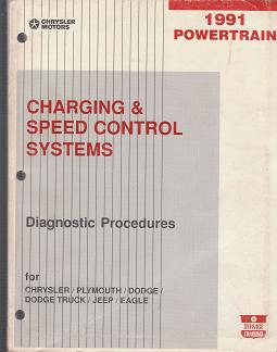 1991 Chrysler / Plymouth / Dodge / Jeep / Eagle Charging & Control Speed System Powertrain Diagnostic Procedures