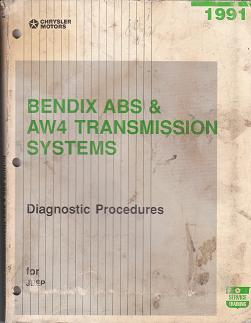 1991 Jeep Bendix ABS & AW5 Transmission Systems Diagnostic Procedures