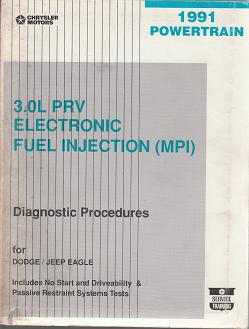 1991 Dodge / Jeep / Eagle 3.0L PRV Electronic Fuel Injection (MPI) Powertrain Diagnostic Procedures