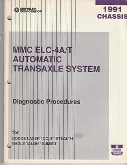 1991 Dodge Laser / Colt / Stealth / Eagle Talon / Summit Chassis Diagnostic Procedures