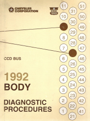 1992 Chrysler CCD BUS Body Diagnostic Procedures Manual