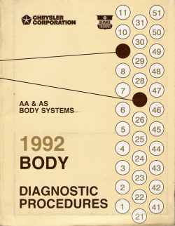 1992 AA & AS Systems Body Diagnostic Procedures Manual