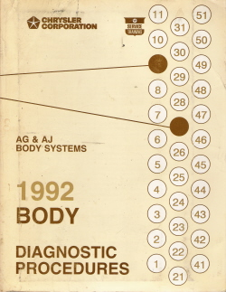 1992 Chrysler AG & AJ Body Systems Diagnostic Procedures Manual