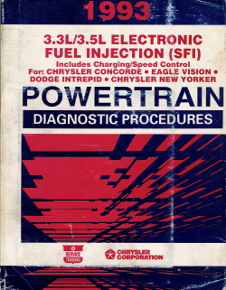 1993 Chrysler 3.3L/3.5L Electronic Fuel Injection (SFI) Powertrain Diagnostic Procedures Manual