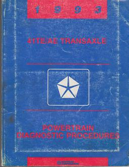 1993 Chrysler / Dodge / Plymouth 41TE/AE Transaxle Powertrain Diagnostic Procedures