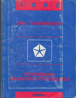 1993 Chrysler / Dodge / Plymouth AW4 Transmission Powertrain Diagnostic Procedures