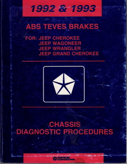 1992 - 1993 Jeep ABS Teves Brakes Chassis Diagnostic Procedures Manual