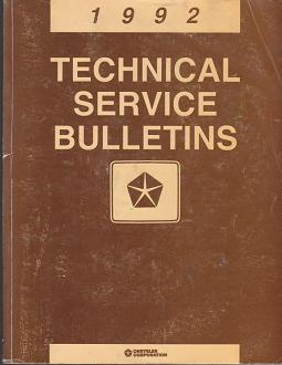 1992 Chrysler Technical Service Bulletins