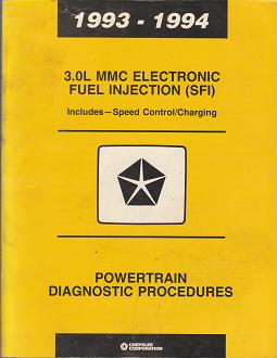 1993 - 1994 Chrysler / Dodge / Plymouth 3.0L MMC Electronic Fuel Injection (SFI) Powertrain Diagnostic Procedures
