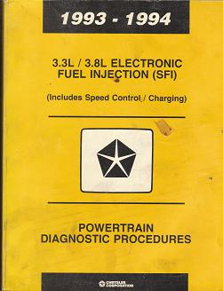 1993 - 1994 3.3 / 3.8L Electronic Fuel Injection (SFI) (Includes Speed Control / Charging) Powertrain Diagnostic Procedures