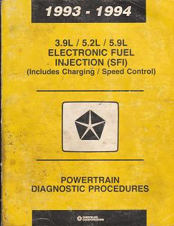 1993 - 1994 3.9 / 5.2L / 5.9L Electronic Fuel Injection (SFI) Powertrain Diagnostic Procedures