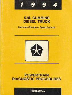 1994 5.9L Cummins Diesel Truck (Includes Charging / Speed Control) Powertrain Diagnostic Procedures