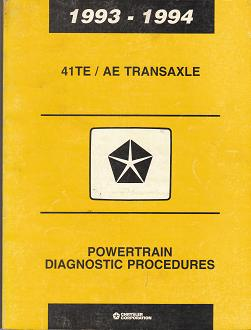 1993 - 1994 Chrysler 41TE / AE Transaxle Powertrain Diagnostic Procedures
