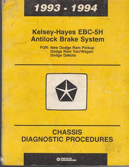 1993 - 1994 Dodge Kelsey - Hayes EBC - 5H Antilock Brake System Chassis Diagnostic Procedures