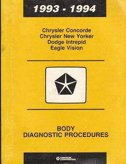 1993 - 1994 Chrysler Concorde / Chrysler New Yorker / Dodge Intrepid / Eagle Vision Body Diagnostic
