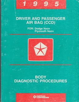 1995 Dodge / Plymouth Neon Driver and Passenger Air Bag (CCD) Body Diagnostic Procedures