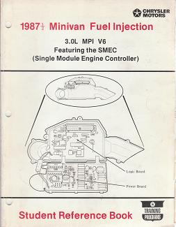 1987 1/2 Chrysler / Dodge / Plymouth Minivan Fuel Injection 3.0L MPI V6 Featuring the SMEC Student Reference Book