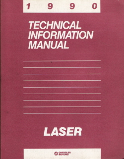 1990 Plymouth Laser Technical Information Manual