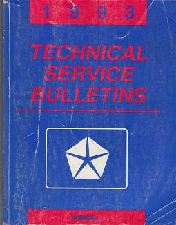 1993 Chrysler / Dodge / Plymouth / Jeep / Eagle Technical Service Bulletins