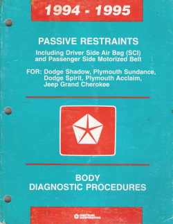 1994 -1995 Chrysler/Dodge Passive Restraints Body Diagnostic Procedures Manual