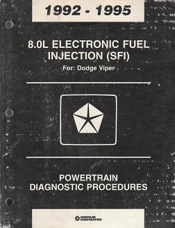 1992 - 1995 Dodge Viper 8.0L Electronic Fuel Injection (SFI) Powertrain Diagnostic Procedures