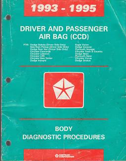 1993 - 1995 Chrysler / Dodge / Plymouth Driver and Passenger Airbag (CCD) Body Diagnostic Procedures