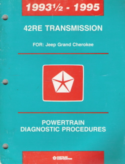 1993 - 1995 Chrysler 42RE Transmission Powertrain Diagnostic Procedures Manual - Softcover