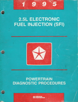 1995 2.5L Electronic Fuel Injection (SFI) Powertrain Diagnostic Procedures Manual