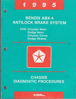 1995 Chrysler Neon / Cirrus / Dodge Neon / Stratus Bendix ABX4 - 4 Antilock Brakes System Chassis Diagnostic Procedures
