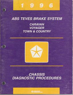 1996 Chrysler Town & Country / Dodge Caravan / Plymouth Voyager ABS Teves Brake System Chassis Diagnostic Procedures