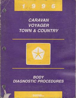 1996 Chrysler Town & Country / Dodge Caravan / Plymouth Voyager Body Diagnostic Procedures