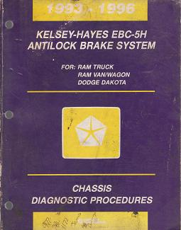 1993 - 1996 Dodge Ram Truck / Ram Van / Wagon / Dakota Kelsey-Hayes EBC-5H Antilock Brake System Chassis Diagnostic Procedures