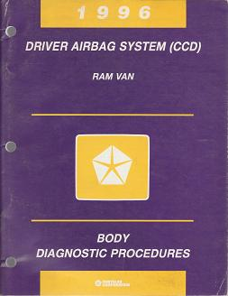 1996 Dodge Ram Van Driver Airbag System (CCD) Body Diagnostic Procedures