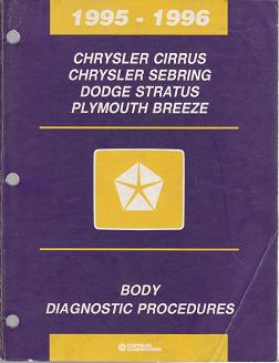 1995  - 1996 Chrysler Cirrus / Sebring / Dodge Stratus / Plymouth Breeze Body Diagnostic Procedures